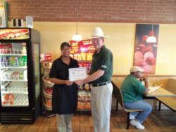 Selma Subway store recognized