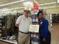 Walmart assistant manager recognized by V.I.P.