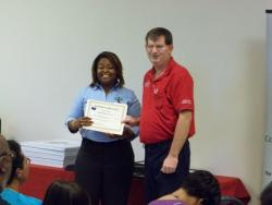 Felecia Jones awarded with certificate of appreciation
