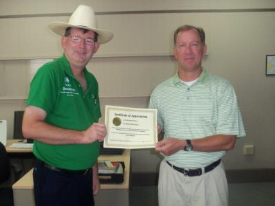 Selma Times Journal employee awarded by Visually Impaired People, Inc.