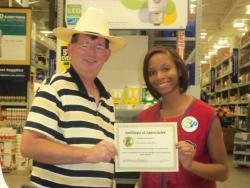 Lowe's worker recognized for kindess towards special needs customers