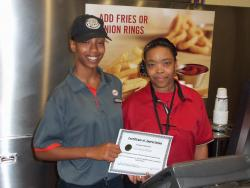 Restaurant cashiers recognized for outstanding customer service