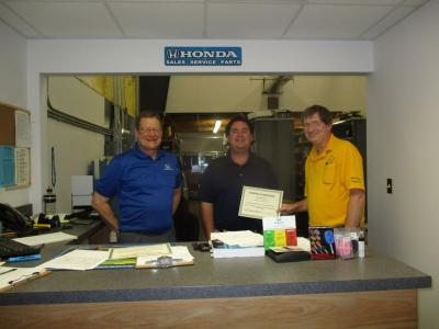Moore Stewart Honda employees recognized