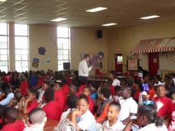 Bowman presents anti-bullying program to elementary school students