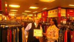 Dillard's employee awarded for outstanding customer service