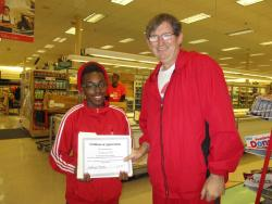 V.I.P. volunteer Jasmine Evans recognized