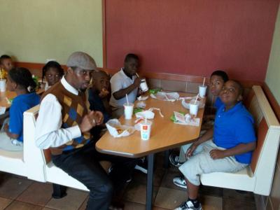 Cedar Park Elementary School students treated to lunch at McDonalds
