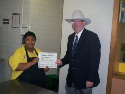 Hardee's worker awarded