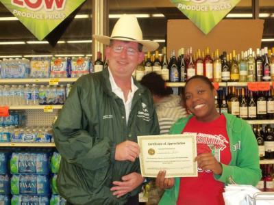 IGA cashier serves up smiles