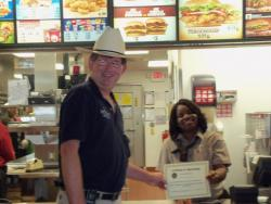 Kendra Craig gets V.I.P. customer service award