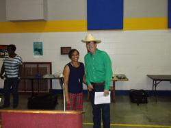 William with Regina following program at Lee County Center.