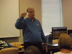 Freedom Scientific rep speaks at ow Vision Awareness Day