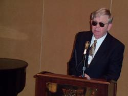 Ken Osbourn, President of Alabama Council for the Blind speaks in Montgomery