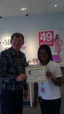 T-Mobile worker Tamesha Williams dials up outstanding customer service