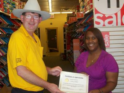 Tiffany Rodgers honored for exceptional customer service