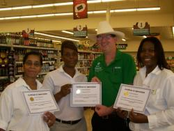 Winn Dixie employees awarded for outstanding customer service