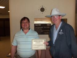 Tim Emmons helps patrons at Library for the Blind in Montgomery