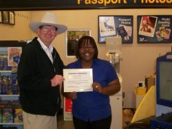 Walgreens worker receives customer service award