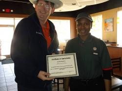 Burger King employee recognized for outstanding customer service