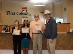 First Cahawba Bank employees honored