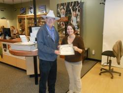 Sarah Byrd awarded for outstanding customer service