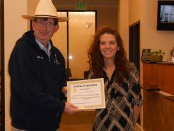 Veronica Dunkin gets outstanding customer service award