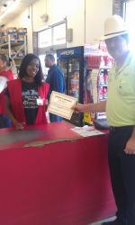 Cashier puts customers' needs first