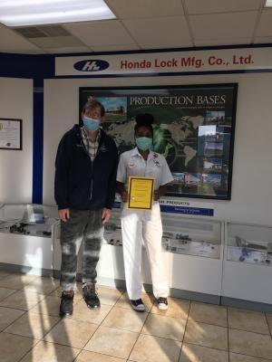 Honda Lock Employee Regina Barnes Recognized