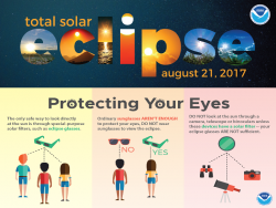 Protect your eyes during the eclipse!