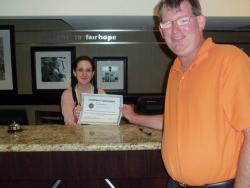 Hampton Inn worker goes extra mile for visually impaired guests