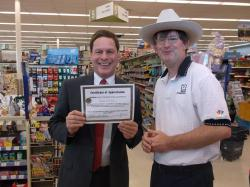 Rich Thomas recognized for work visually impaired
